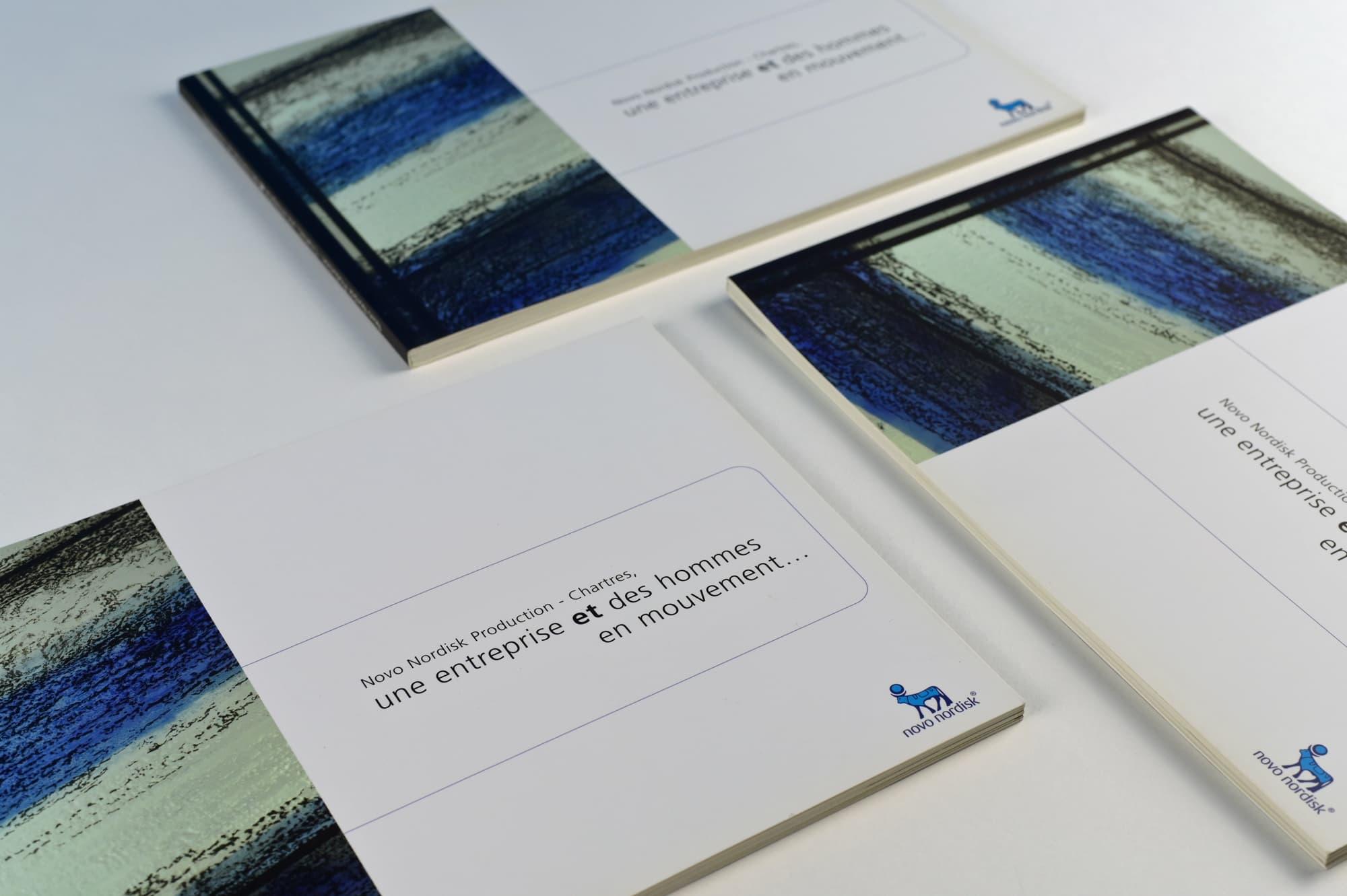Livre d'entreprise pour le laboratoire Novo Nordisk, leader mondial contre le diabète