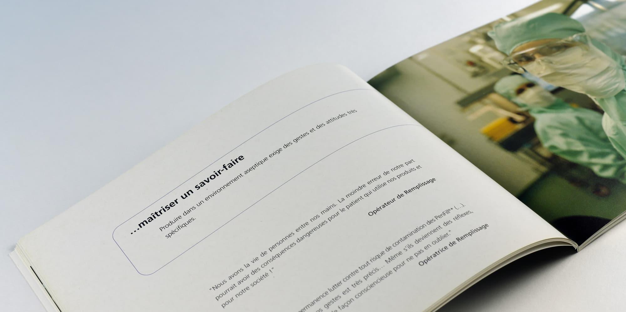 Conception d'un livre d'inauguration pour le laboratoire Novo Nordisk
