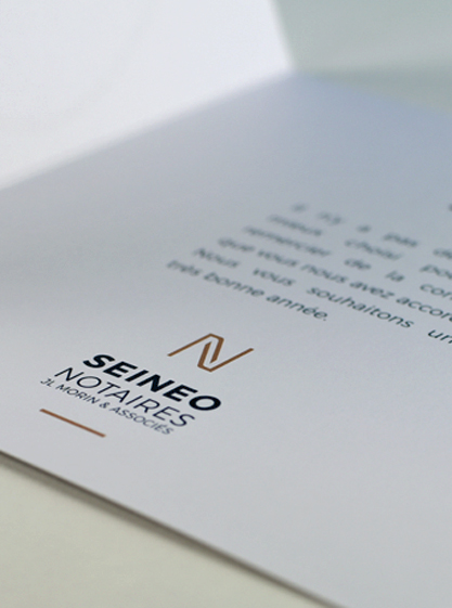 Création image de marque et charte graphique de l'étude de notaires SEINEO