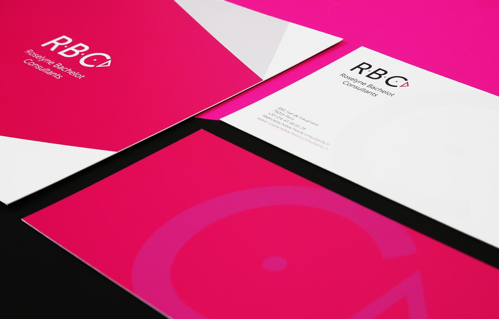 Conception identité visuelle et logo pour le cabinet Roselyne Bachelot Consultant