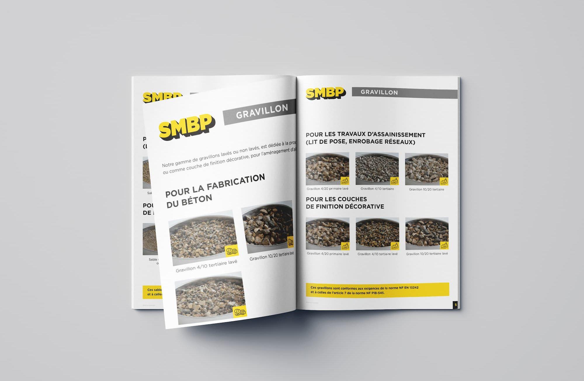 Catalogue produit SMBP, producteur de granulat