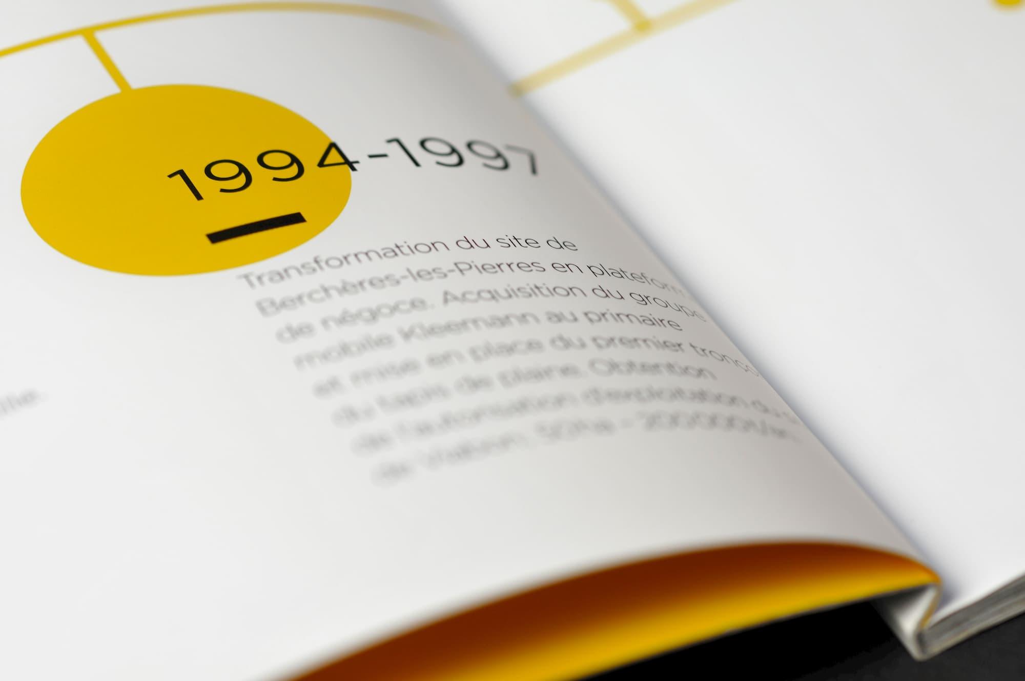 Livre d'image retraçant l'histoire de l'entreprise SMBP