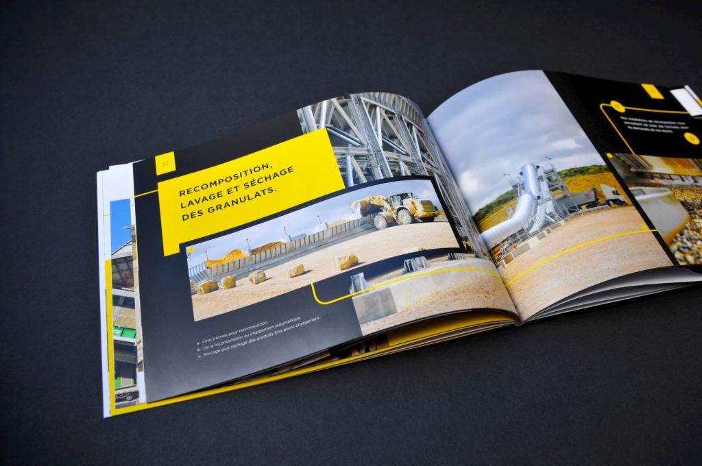 Edition d'un livre images pour l'anniversaire d'entreprise de SMBP - producteur de granulat