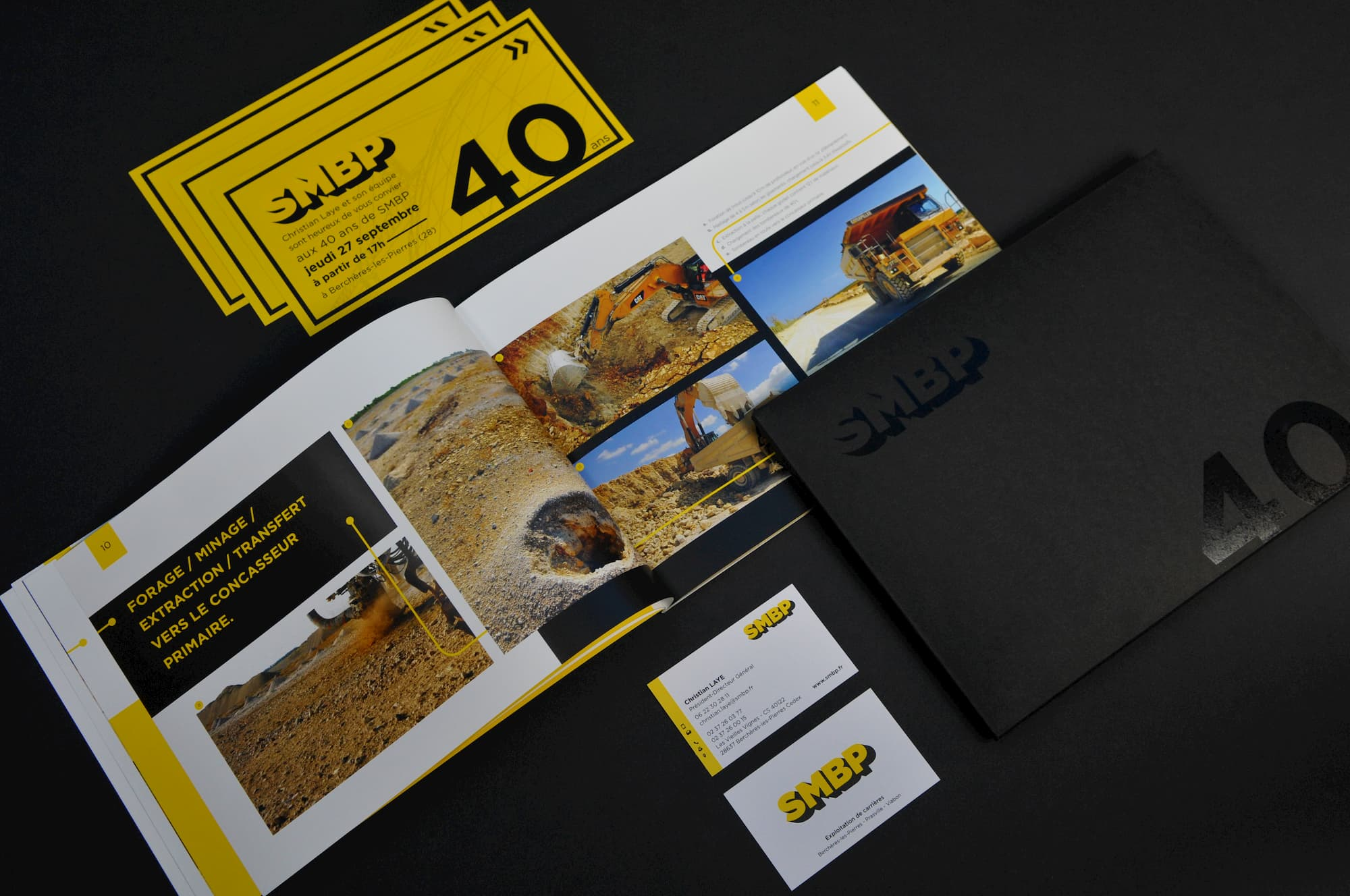 Kit de communication : carte de visite, livre d'entreprise, carte de correspondance