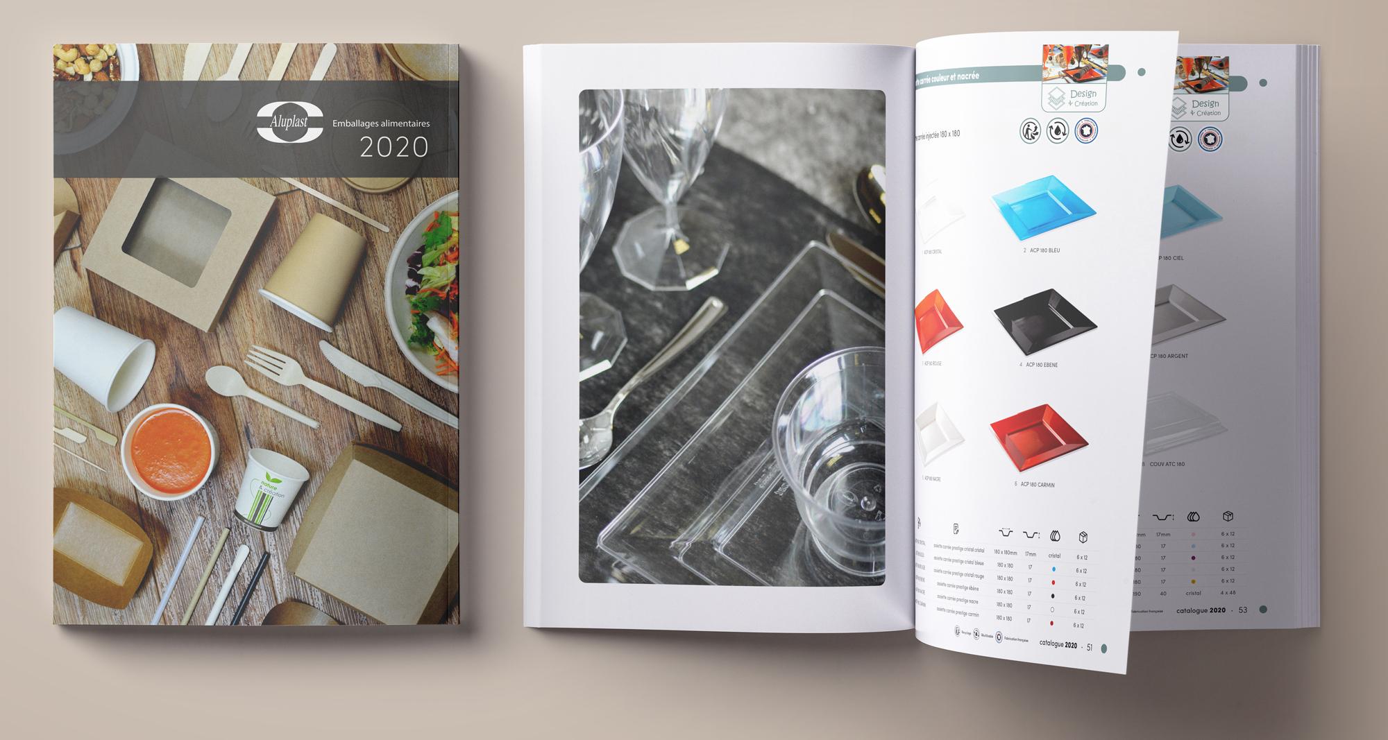 Création d'un catalogue produits pour Aluplast, spécialiste emballage alimentaire