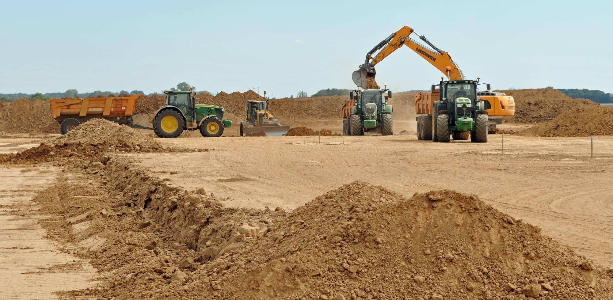 Reportage photo sur le terrain pour le secteur de la construction et du btp