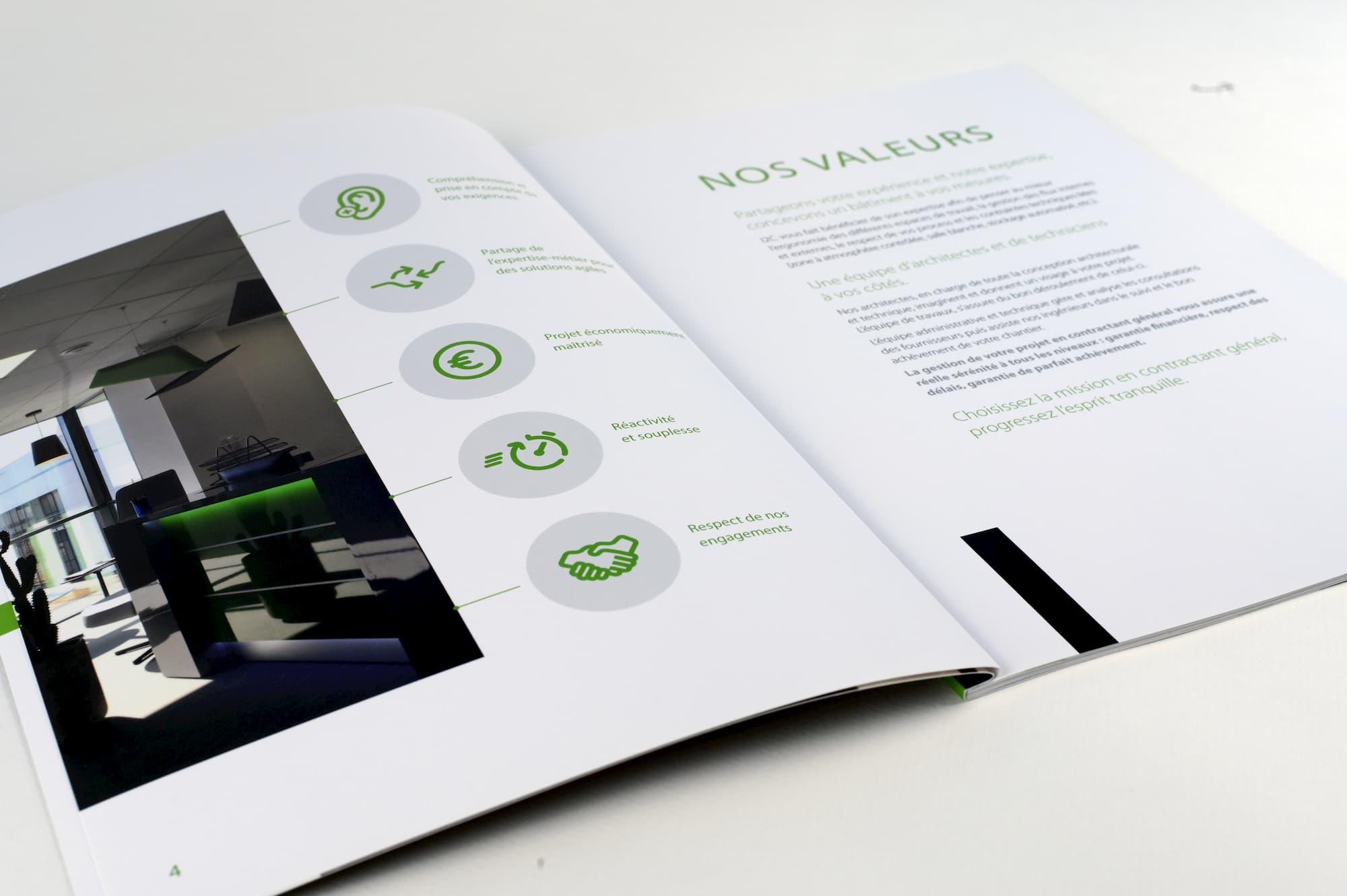 Conception, exécution et impression d'une brochure