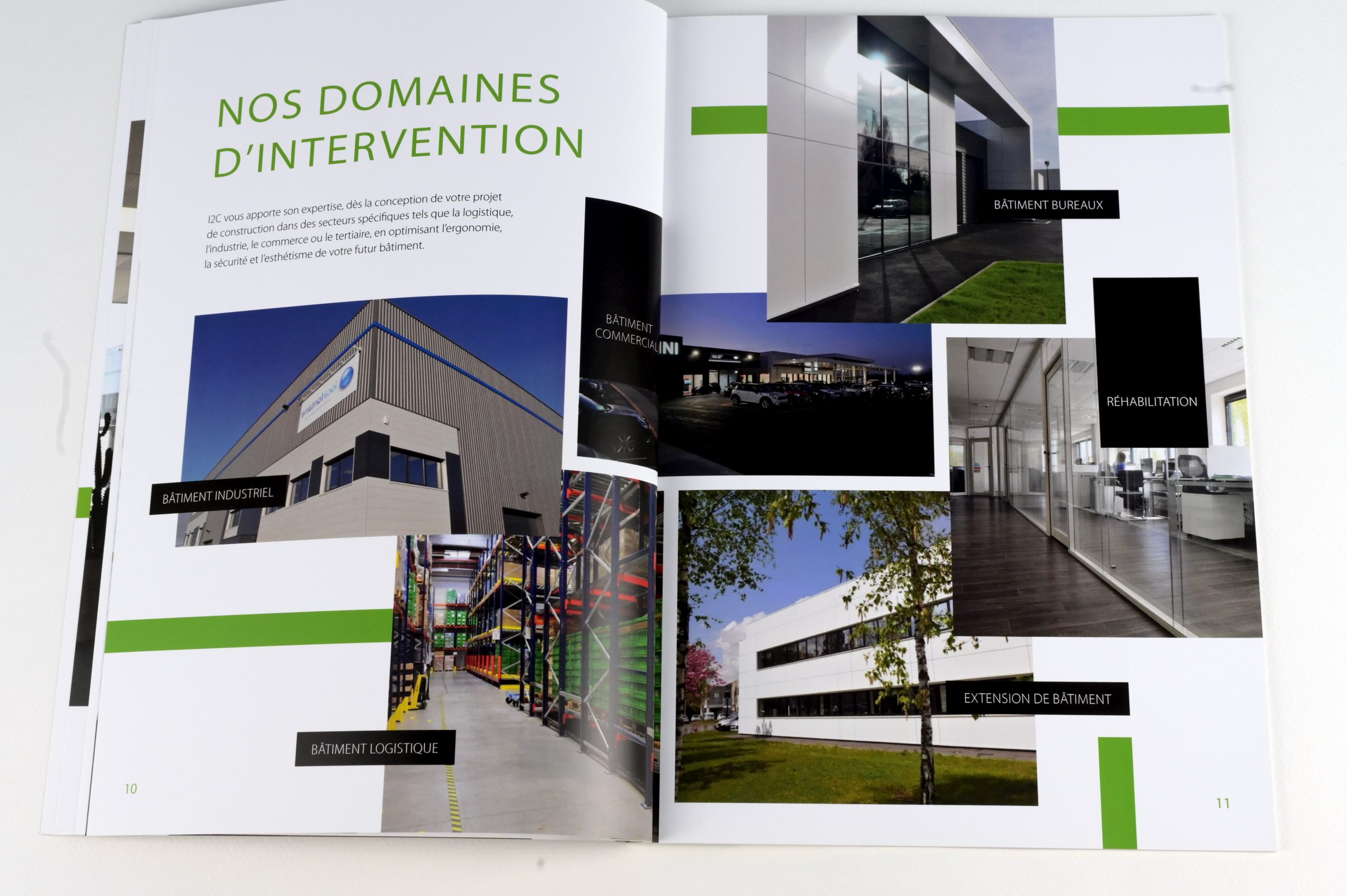 Conception d'une brochure pour I2C, contractant général