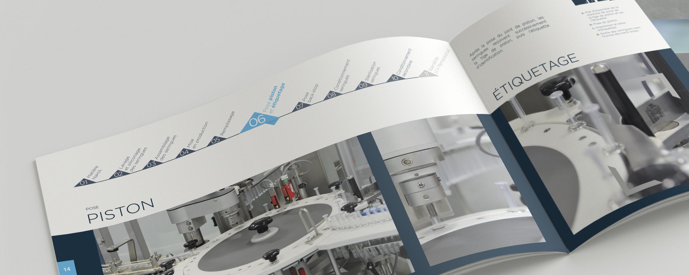 Reportage photo, conception et impression d'une brochure pour un laboratoire pharmaceutique