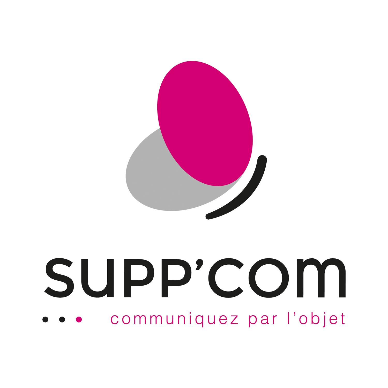 Logo SUPP'COM, communiquez par l'objet