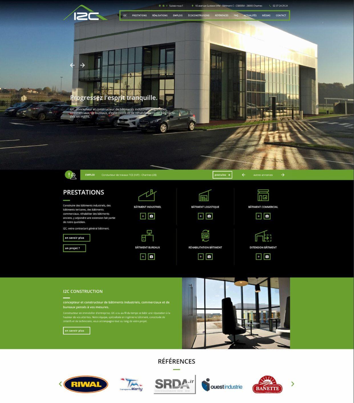 I2C, concepteur et constructeur de bâtiments industriels sur-mesure