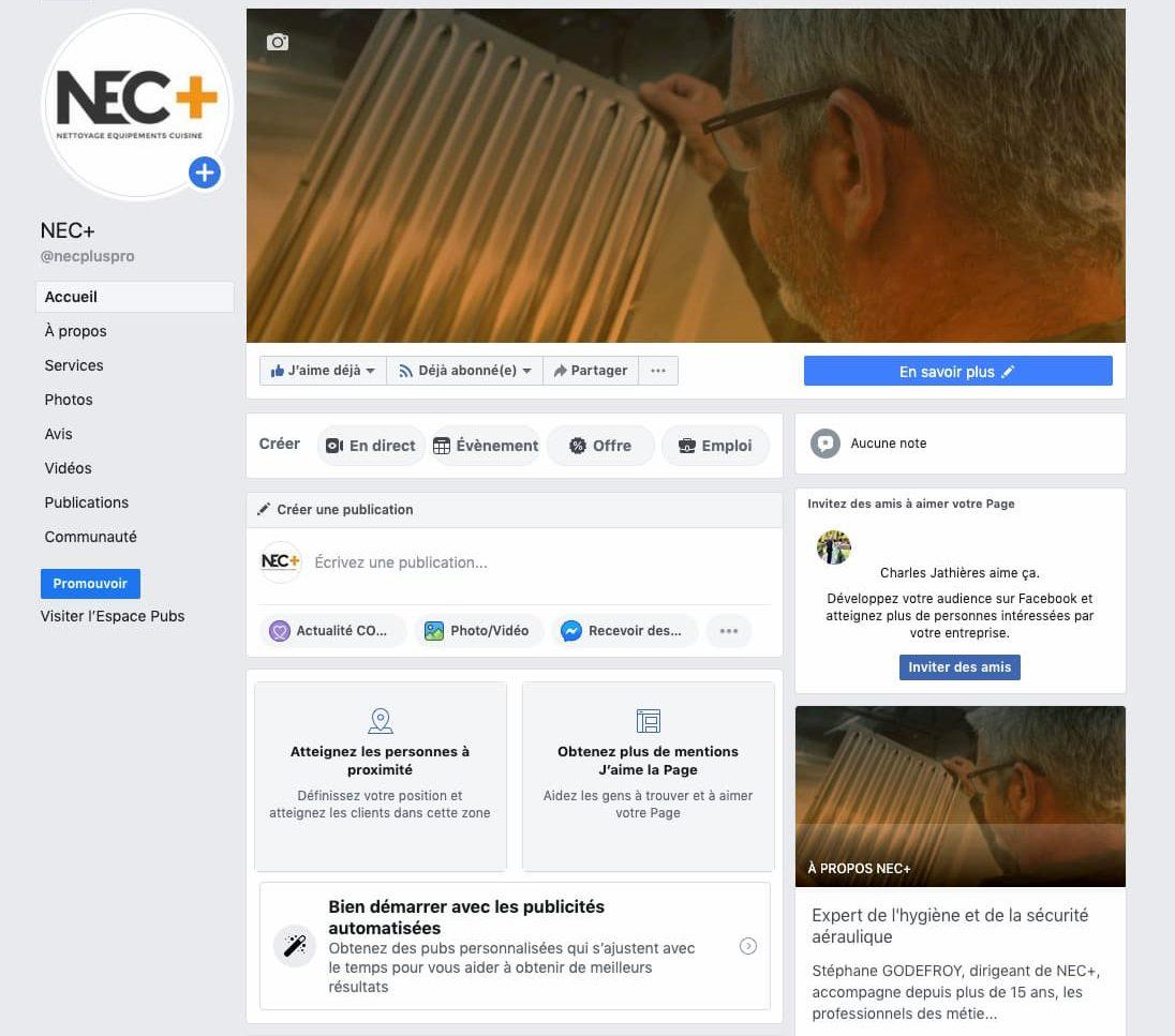 Activation animation et pilotage stratégie réseaux sociaux et smo de NEC+