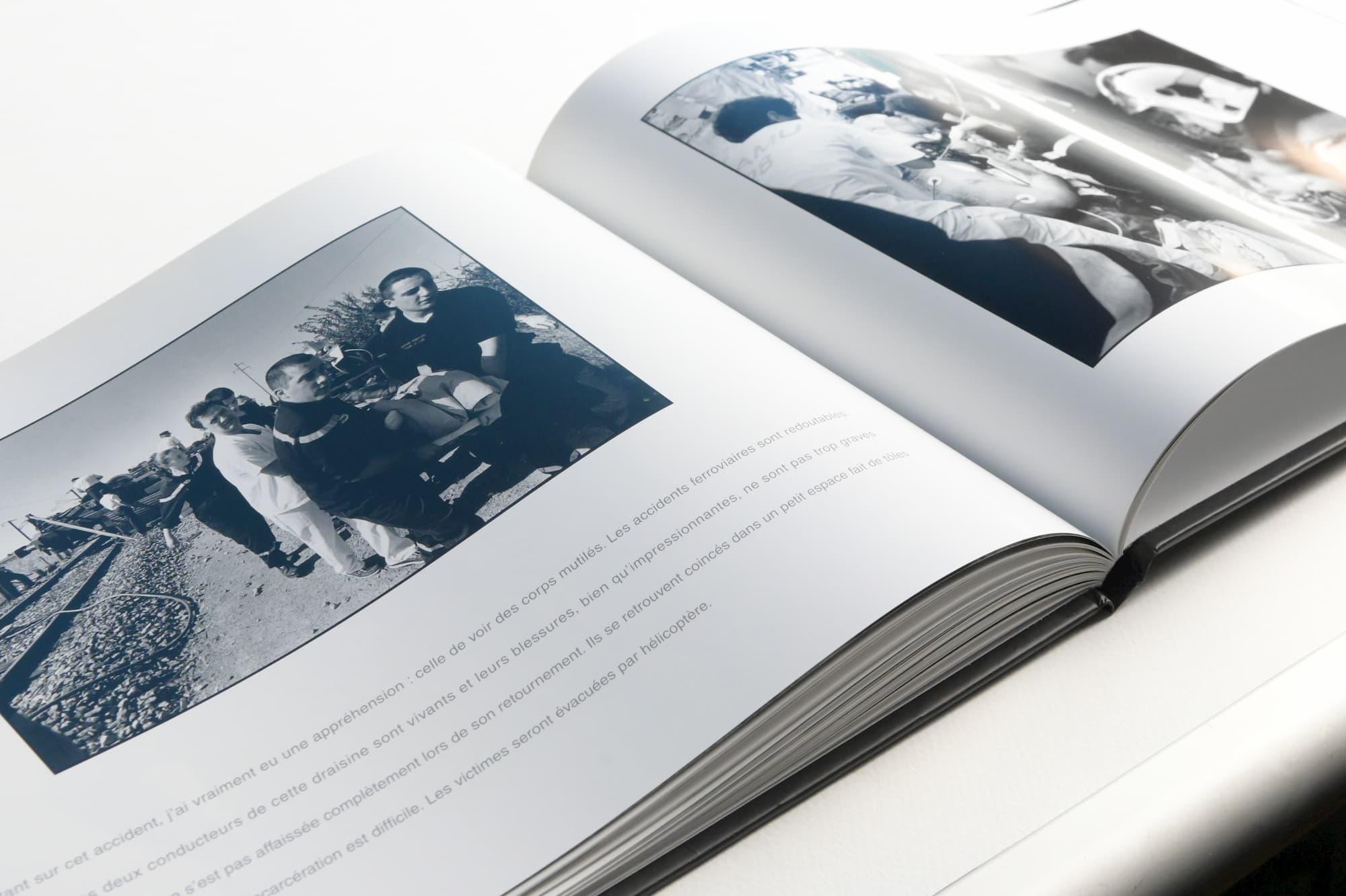 Création, mise en page et retouche d'image d'un livre noir et blanc