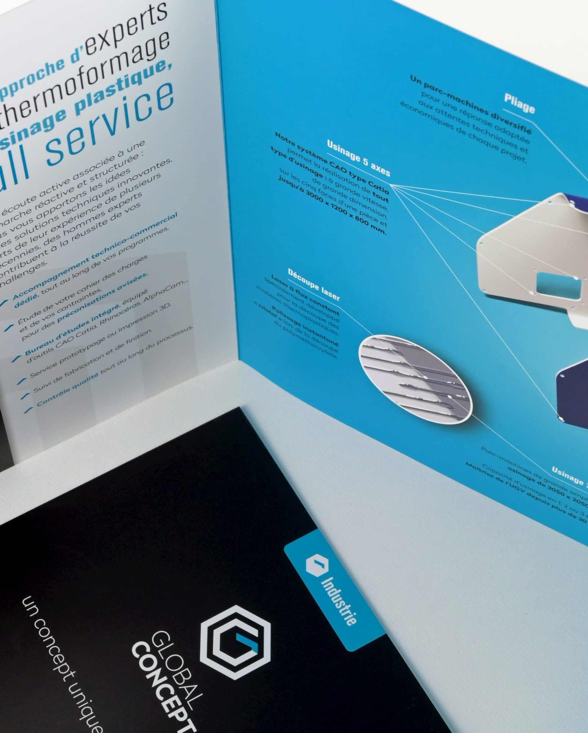 Un document imprimé destiné aux commerciaux de Global Concept
