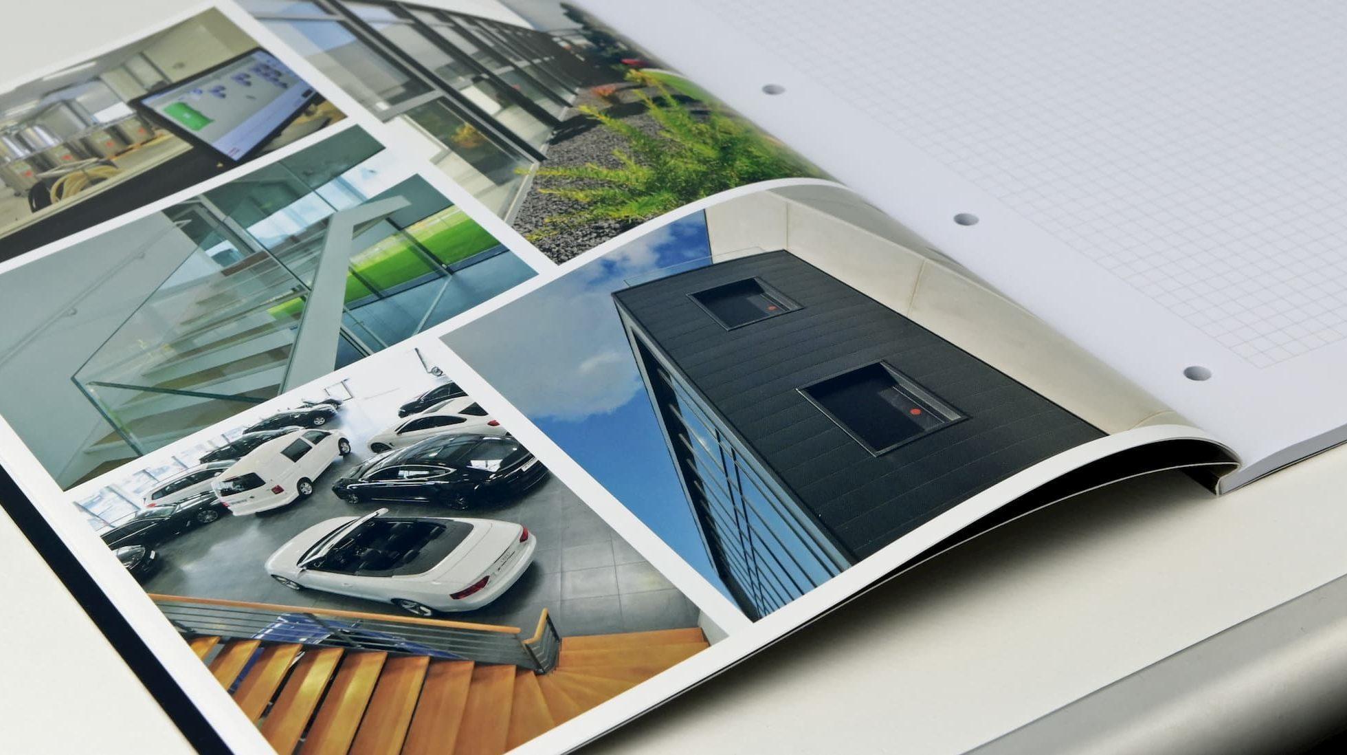 Prises de vue et montage photos pour la conception d'un bloc note