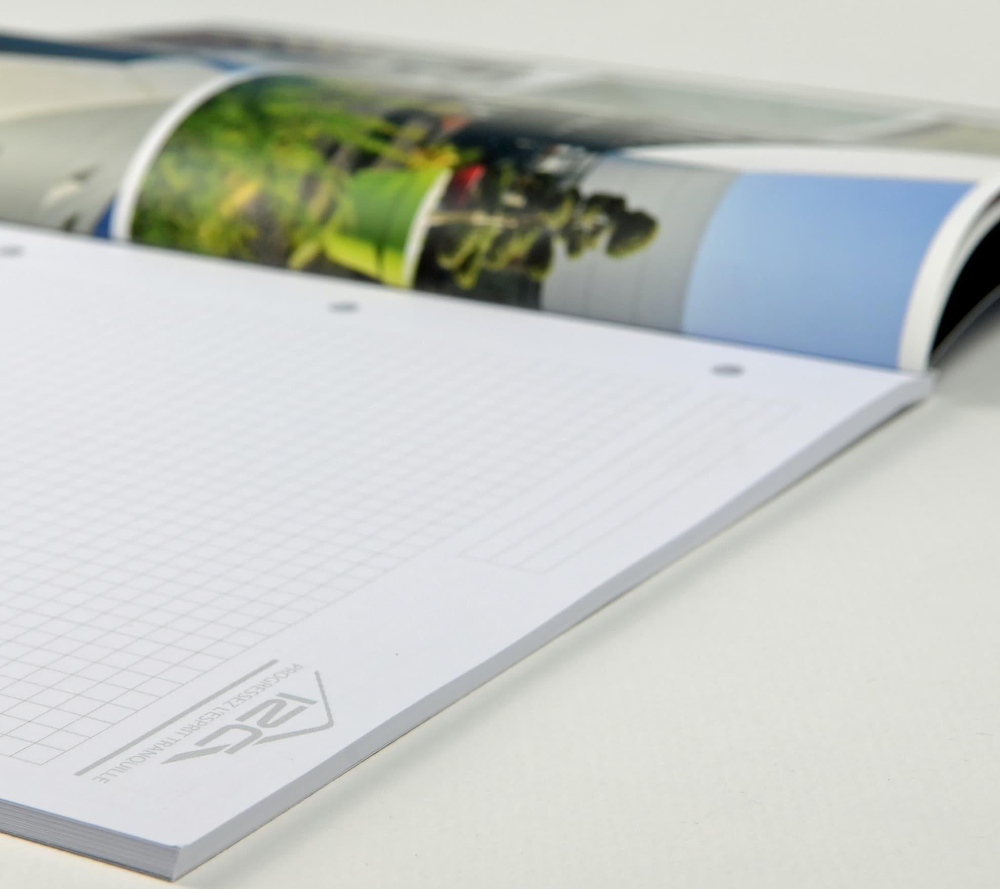 Conception, mise en page et impression d'un cadeau client pour I2C