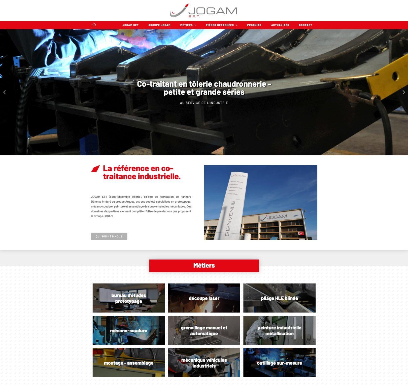 UX Design, intégration, rédaction web et optimisation SEO du site web JOGAM SET