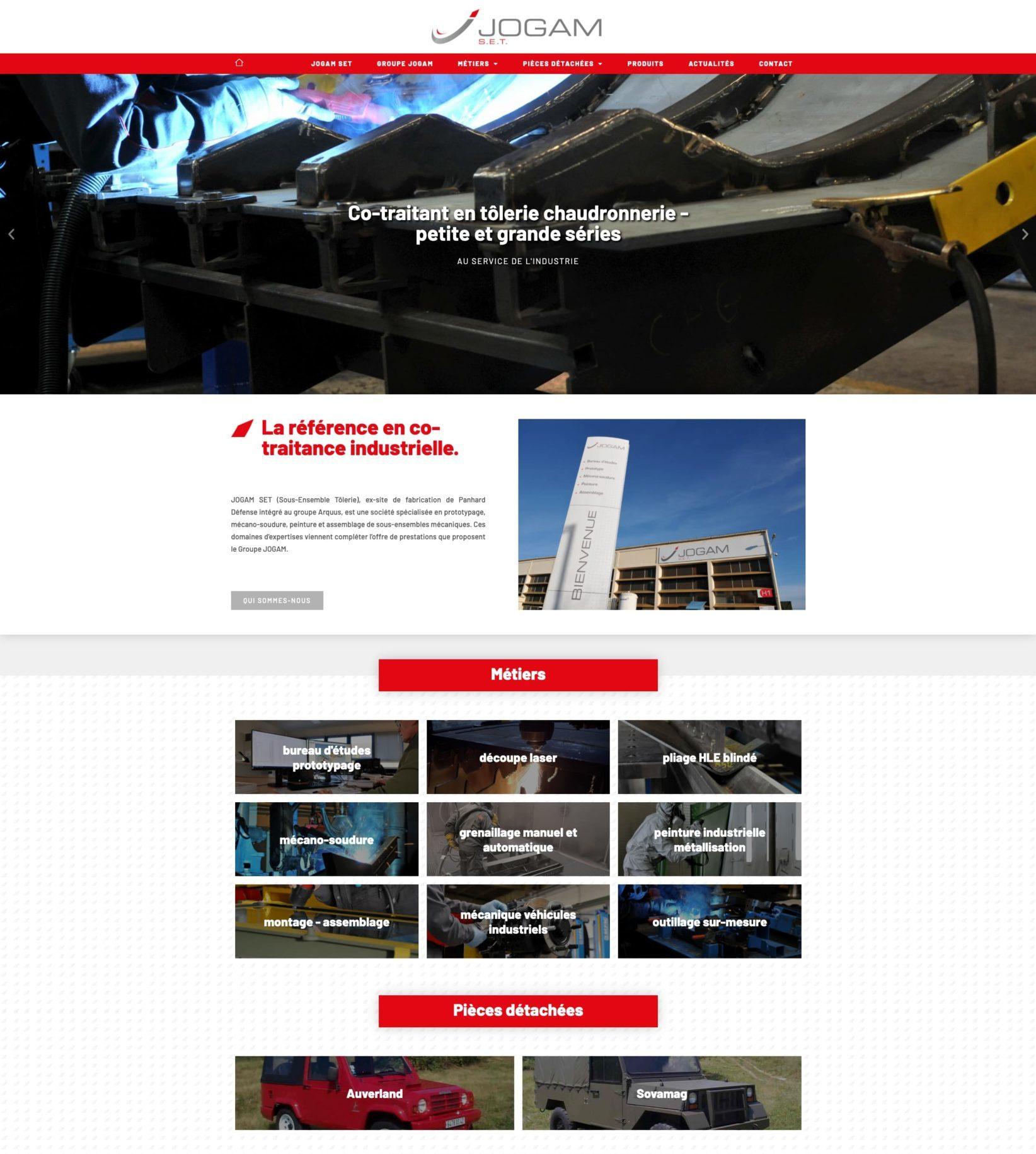 Le Groupe JOGAM et JOGAM SET nous ont confié la conception de leur site internet